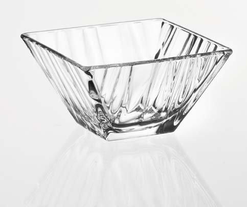 ality - Square - Glass Bowl - Wavy Design in Glass - 7.9