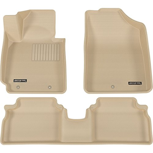 Aries 1st & 2nd Row Beige Floor Mat Liner Set for 12-14 Hyundai Veloster - Aries Canada