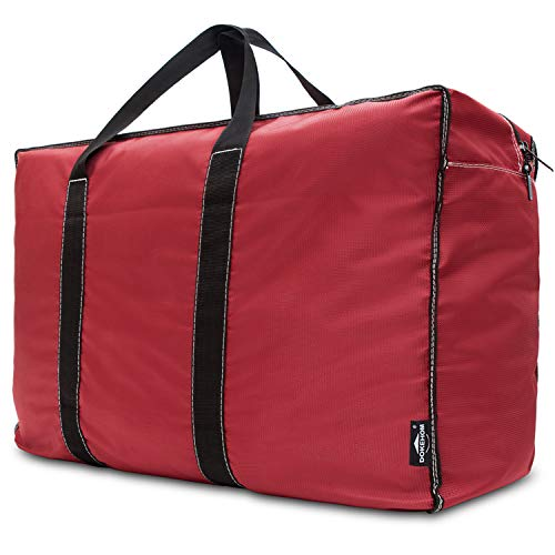 DOKEHOM 130L Thickened X-Large Storage Bag (4 Colors), Fabric Clothes Bag, Ultra Size Under Bed Storage, Moisture Proof (Red, XL)