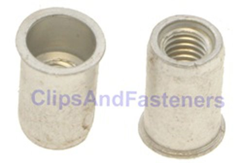 25 M6-1.0 Metric Thin Sheet Aluminum Nutserts