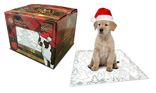 American Kennel Club AKC Pine Scented Pet Training Pads, 100-ct, Comes in a Holiday Giftbox
