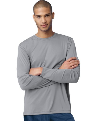 - Hanes Cool DRI'Performance mens Long-Sleeve T-Shirt,Graphite,X-Large