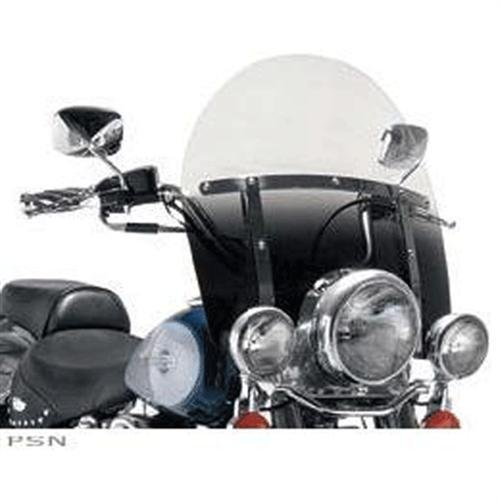 (Memphis Shades MEP6221 Black Windshield (Replacement Plastic For Harley-Davidson 17