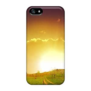 Anti-scratch And Shatterproof Rainbow Colorful Nature Phone Case For Iphone 5/5s/ High Quality Tpu Case