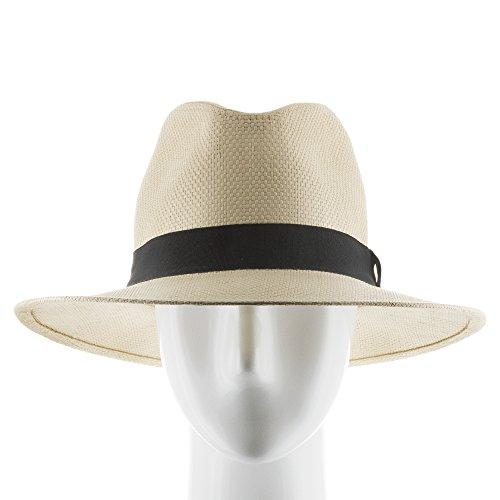 6ca82e0d529 Ultrafino Monte Cristo Straw Fedora Panama Hat at Amazon Men s Clothing  store