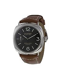 Panerai Radiomir Black Dial Brown Leather Mens Watch PAM00609