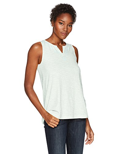 Woolrich Women's Bell Canyon Eco Rich Embroidered Tank, Aqua ice, Large