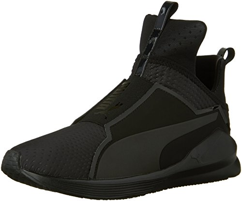 PUMA Women's Fierce Quilted Cross-Trainer Shoe, Puma Black/Puma Black, 7 M US