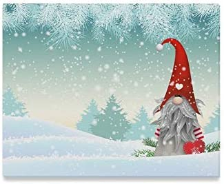 Amazon Com Wbsndb Wall Art Painting Traditional Scandinavian Christmas Gnome Named Tomte Prints On Canvas The Picture Landscape Pictures Oil For Home Modern Decoration Print Decor Living Room Posters
