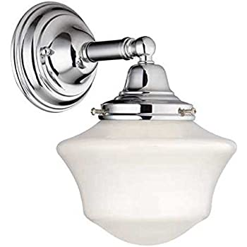 this item schoolhouse sconce in chrome finish - Chrome Bathroom Sconces
