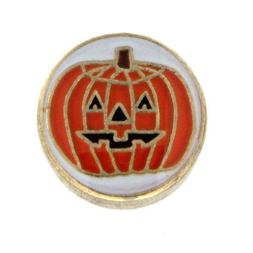 Jack O Lantern Pumpkin Floating Locket Charm]()