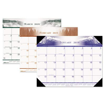 HOD140HD - One-Color Photo Monthly Desk Pad Calendar