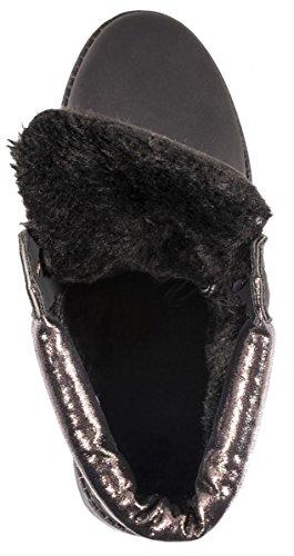 Elara - botas de nieve Mujer Black/Gun