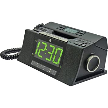 GE 29298FE1 Corded Bedroom Phone with CID Radio Alarm Clock  Black. Amazon com   GE 29298FE1 Corded Bedroom Phone with CID Radio Alarm