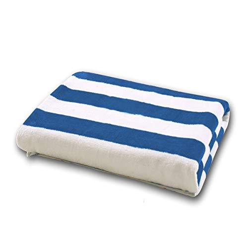 Exclusivo Mezcla 100% Cotton Cabana Navy Blue Striped Beach/Pool/Bath Towel(30