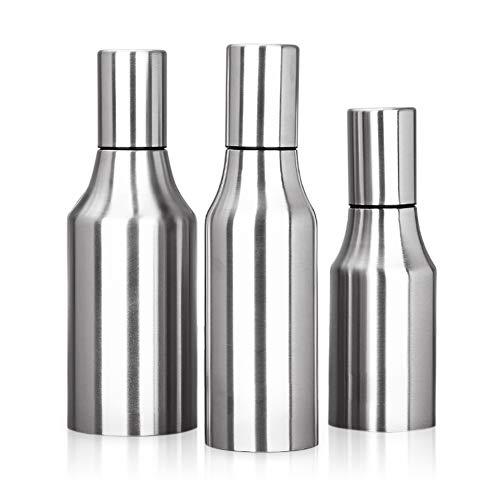 HQGOODS Oil Dispenser,Stainless Steel Olive Oil/Vinegar/Sauce Cruet Oil Bottle Edible Oil Container Pot - Non drip Pouring Spout(33 oz/1000ML) by HQGOODS (Image #1)