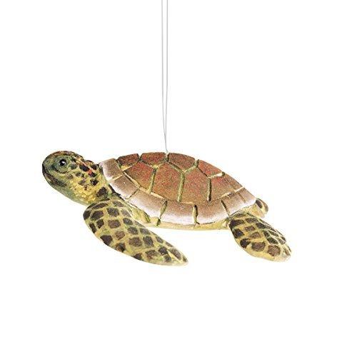Wood Sea Turtle Christmas Ornament