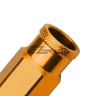 EZAUTOWRAP Gold 20 PCS M12x1.25 Lug Nuts Short 50mm Tuner Open End Aluminum Wheels Rims Cap WN01: Automotive