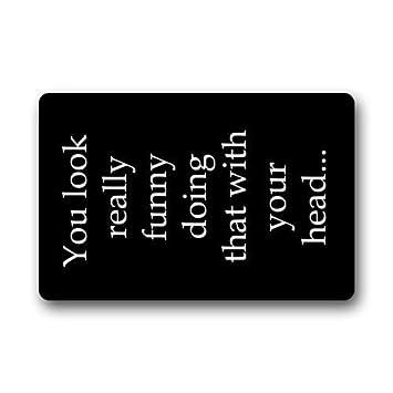 Amazon.com: Fantastic Doormat Funny Saying & Quotes: You ...