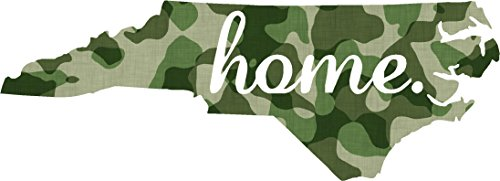 North Carolina #2 Home USA military camo print 7x3.6 inches america united states marine us coast guard navy seals air force pow mia color sticker state decal vinyl - Made and Shipped in USA