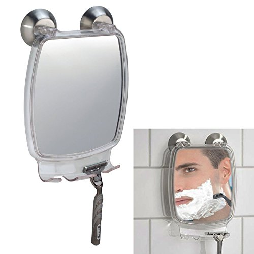 Fog Free Shower Shaving Rectangular Mirror - With Power Lock Suction Mount by WholesalePlumbing