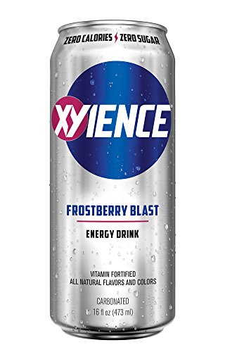 Ginseng Energy Drinks (XYIENCE Energy Drink | Zero Calories | Zero Sugar | Frostberry Blast | 16 Ounce (Pack of 12))