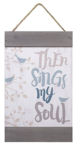Then Sings My Soul Bird Branches Distressed LookInch Solid Pine