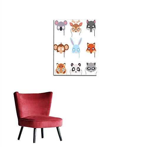 longbuyer Art Decor Decals Stickers Cartoon Animal Party mask Vector Mural -