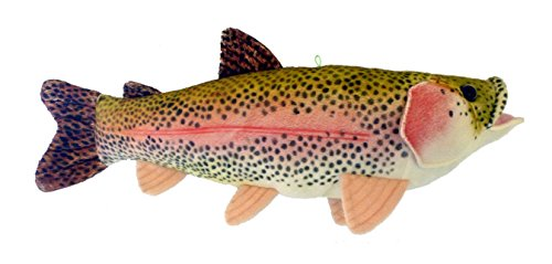 "17"" Sierra Rainbow Trout Plush Stuffed Animal Walltoy Wall M"