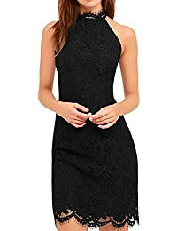 Women's Cocktail Dress High Neck Lace Dresses For Special Occasions