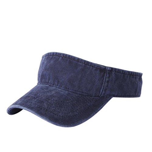 Price comparison product image BCDshop Summer Sun Visor Cap For Women Men Cotton Fashion Sport Outdoor Caps (Navy)