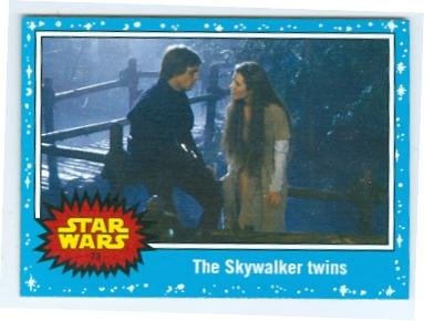 Luke Skywalker and Princess Leia trading card Star Wars JTFA 2015 Topps #73 Brother Sister Force