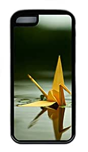 for iphone 5/5S Case Paper Cranes In The Water TPU for iphone 5/5S Case Cover Black