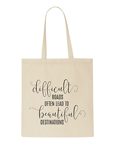 Tote Destinations Lead Roads Difficult Statement Shopper Beige Bag Beautiful To Often 6HCcOF