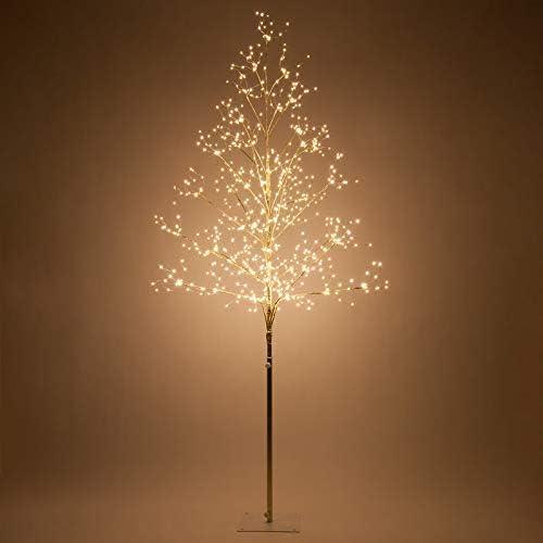 Amazon.com: Fairy Light Tree Indoor-Outdoor Decor Lighted Tree with Fairy Lights, Globe Light Tree, Light Ball Tree with Globe Lights (6 Ft, Gold Fairy Light Tree, Warm White Lights): Home & Kitchen