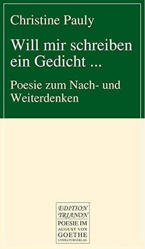 Amazoncom Will Mir Schreiben Ein Gedicht Poesie Zum
