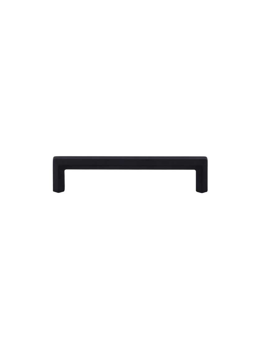 Top Knobs TK794BLK Serene Collection 5-1/16'' Lydia Pull, Flat Black