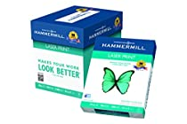 Hammermill Paper, Laser Print Poly Wrap, 24lb, 8.5 x 11, Letter, 98 Bright, 2500 sheets / 5 ream Case, (104640C) Made In The USA