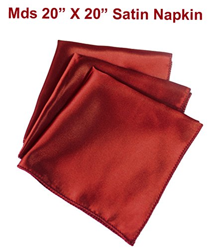 "MDS Pack of 100 Wedding 20""X 20"" Square Satin Table Napki..."
