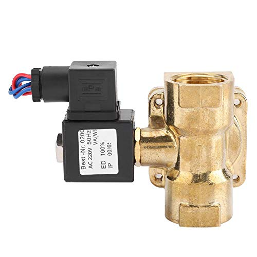 (1''Solenoid Diaphragm Valve, Normally Closed Water Air Solenoid Valve, 2 Way N/C Seal Solenoid Valve, 0.07~1.6MPA(AC220V))