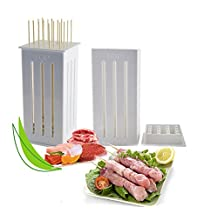 C&C Products 16 Holes DIY BBQ Slicer Box Food Meat Vegetable Slicer Box Portable Barbecue Grill Kebab Tool