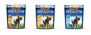 Zuke's Hip Action Natural Dog Treats - Beef , Chicken & Peanut Butter Variety Pack