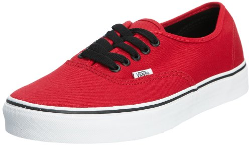 Vans Adult Authentic Core Classics Chili Pepper/ Black 11.0 (Red Vans Shoes Men)