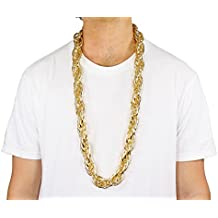 """Largemouth 40"""" Heavy Rope GOLD PIMP CHAIN OLD SCHOOL RAPPER Costume Bling!! (Gold)"""