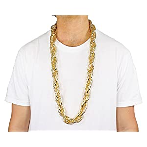 40″ Heavy Rope GOLD PIMP CHAIN OLD SCHOOL RAPPER Costume Bling!! (Gold)