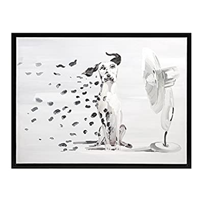 IMAX 82136 Pongo Spots Oil Painting - Handcrafted Canvas, Wall Decor Accessory, Landscape Painting. Home Decor Accents - Decor Accessory: this funny painting can be the right decor item for those who love dogs. Securely framed oil painting would be enough to bring in some quirkiness to your decor. This decor piece can be easily mounted on any wall without any hassle Material Used: wall art is crafted with a unique blend of 15% manufactured wood (MDF), 40% canvas and 45% plastic frame. Solidly constructed painting canvas would ensure extended durability Handcrafted Wall Painting: landscape painting is provided with exemplary details. Spots oil painting is uniquely designed due to expert craftsmanship. Pongo wall painting adds a fun and chic look to the decor - wall-art, living-room-decor, living-room - 419wGgoib9L. SS400  -