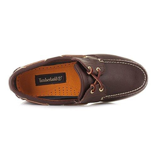 Timberland Classic - Náuticos con cordones para hombre marrón - marrón oscuro