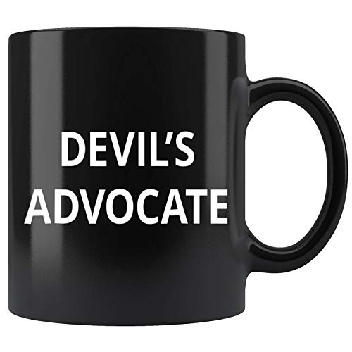 Devils Advocate  Words Only On White Mug Coffee Mug 11oz Gift Tea Cups 11oz