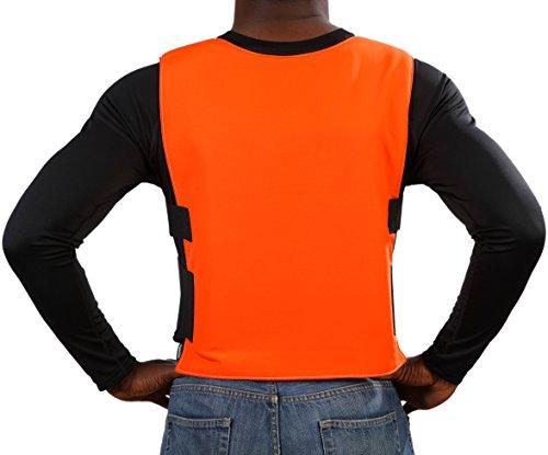 Glacier Tek Sports Cool Vest with Set of 8 Nontoxic Cooling Packs Orange by Glacier Tek (Image #3)
