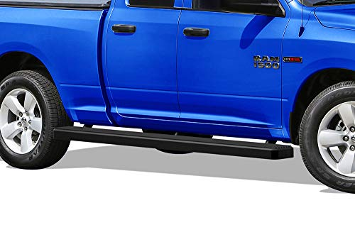 APS iBoard Running Boards (Nerf Bars Side Steps Step Bars) Compatible with 2009-2018 Dodge Ram 1500 Quad Cab Pickup 6.5ft Bed (Black Powder Coated 5 inches Wheel to Wheel)